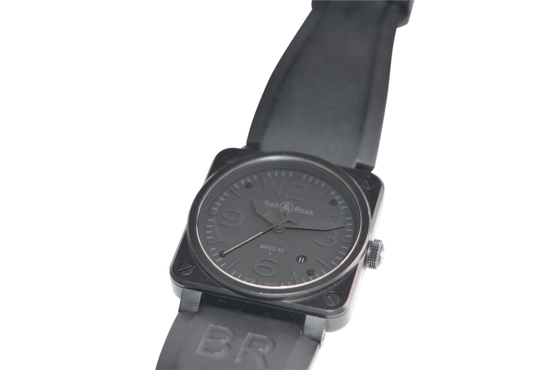 Los 46 - Bell & Ross PhantomBR03-92-S-10725 Box original & papers 2010Automatic, orig Bell and Ross