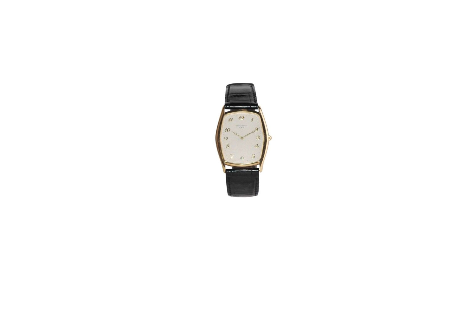 Los 17 - Patek Philippe Gondolo Ref. 384231 x 29 mm 750/000 fine gold watch with leather strap, manual