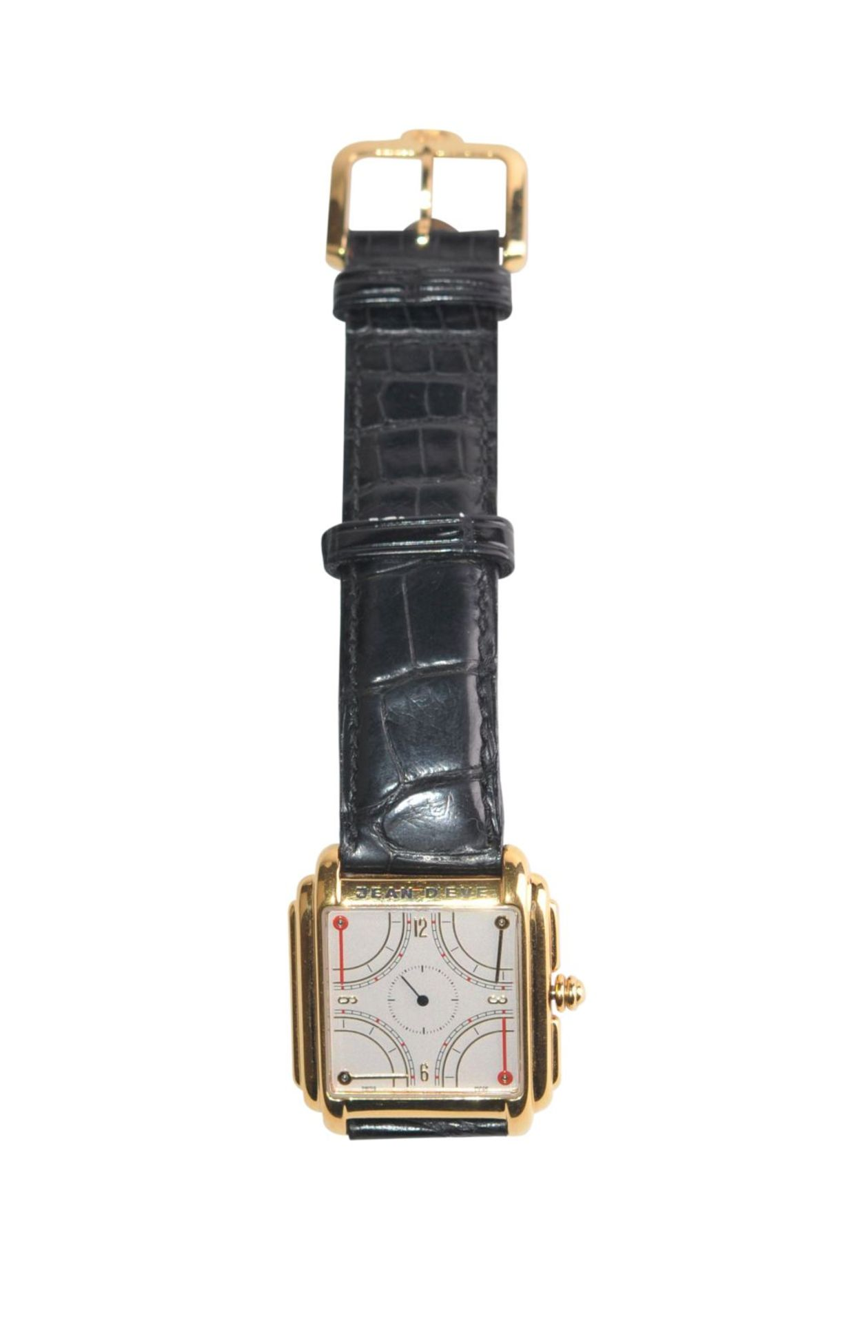 Los 40 - Jean d´Eve QuartaClock with a unique design, reveals a particular reading of the time by means of