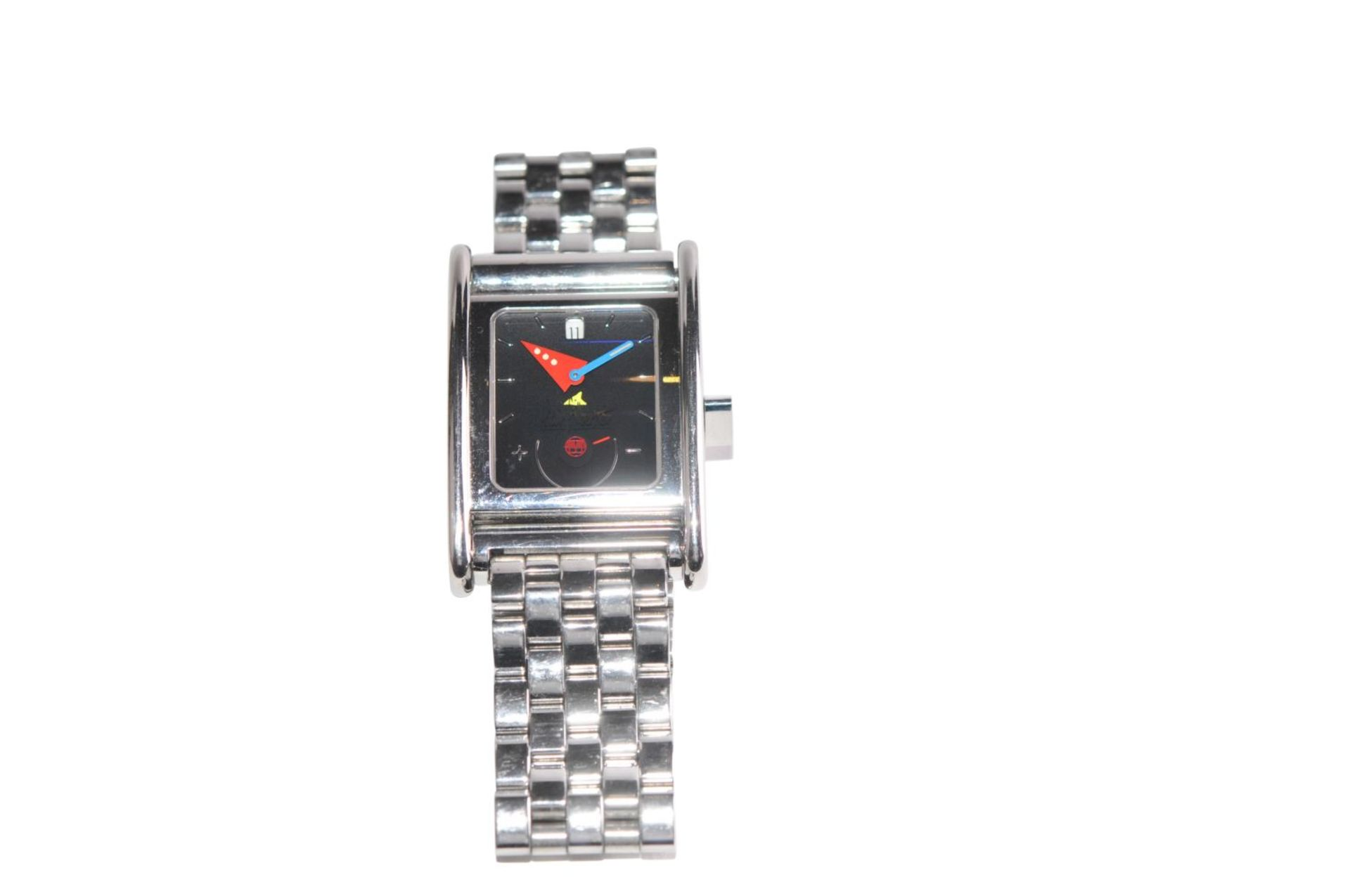 Los 47 - ALAIN SILBERSTEIN Boido45 x 32 mm steel watch limited to 500 pieces, automatic with power reserve