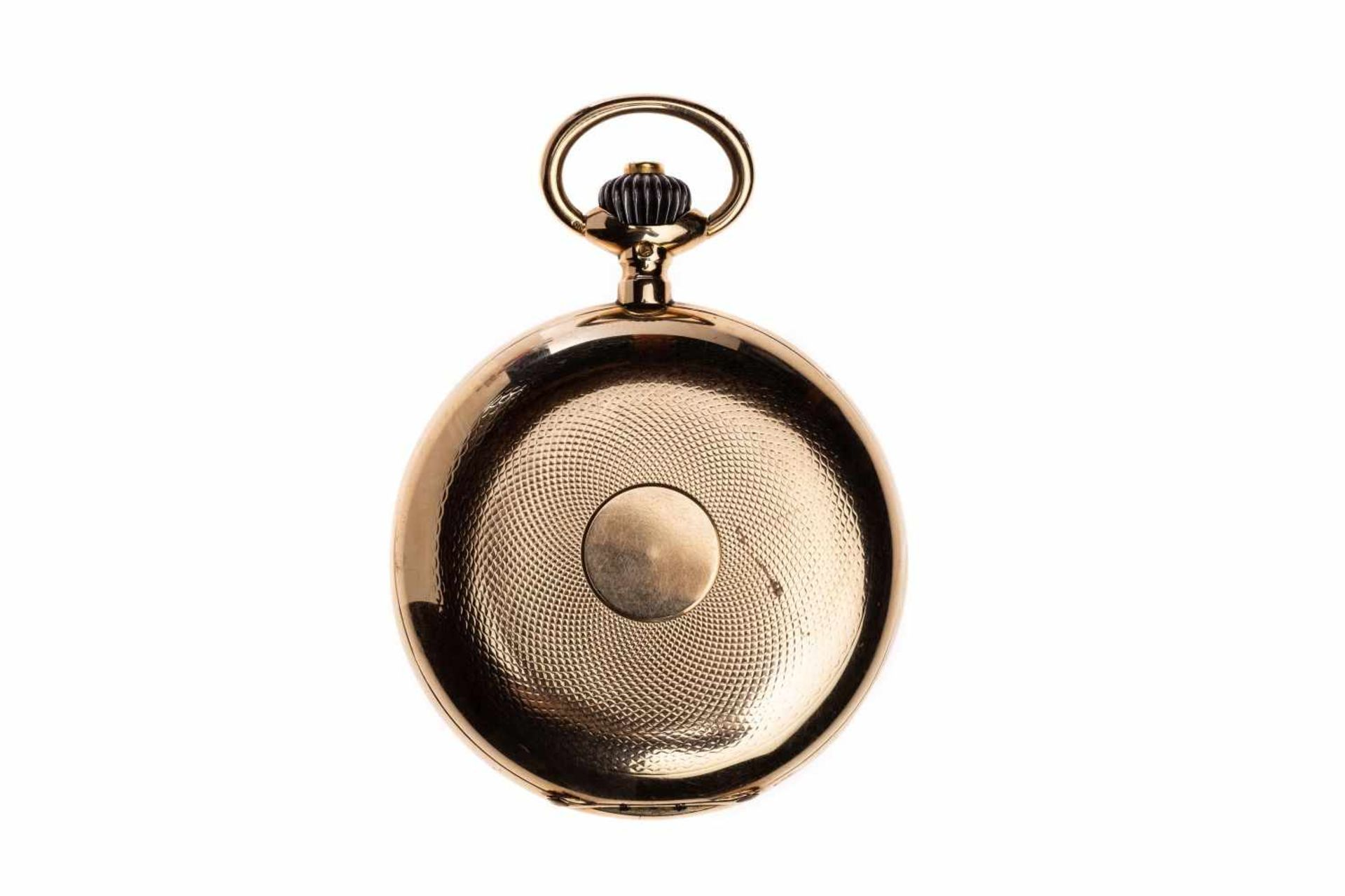 Los 79 - Lepine pocket watch14ct yellow gold watch from Omega with chain so called Lepine pocket