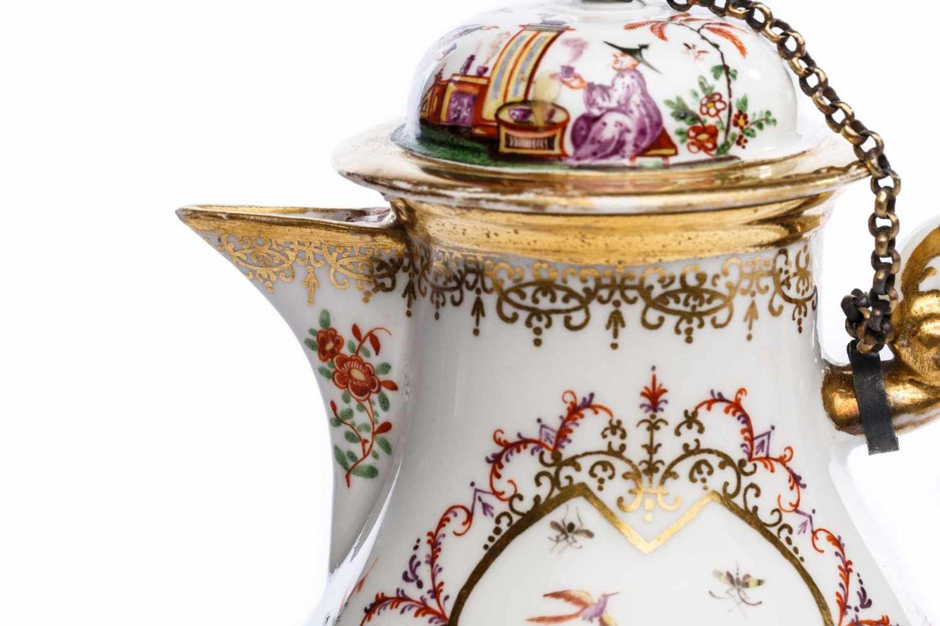 Kaffeekanne, Meissen 1724 - Bild 4 aus 5