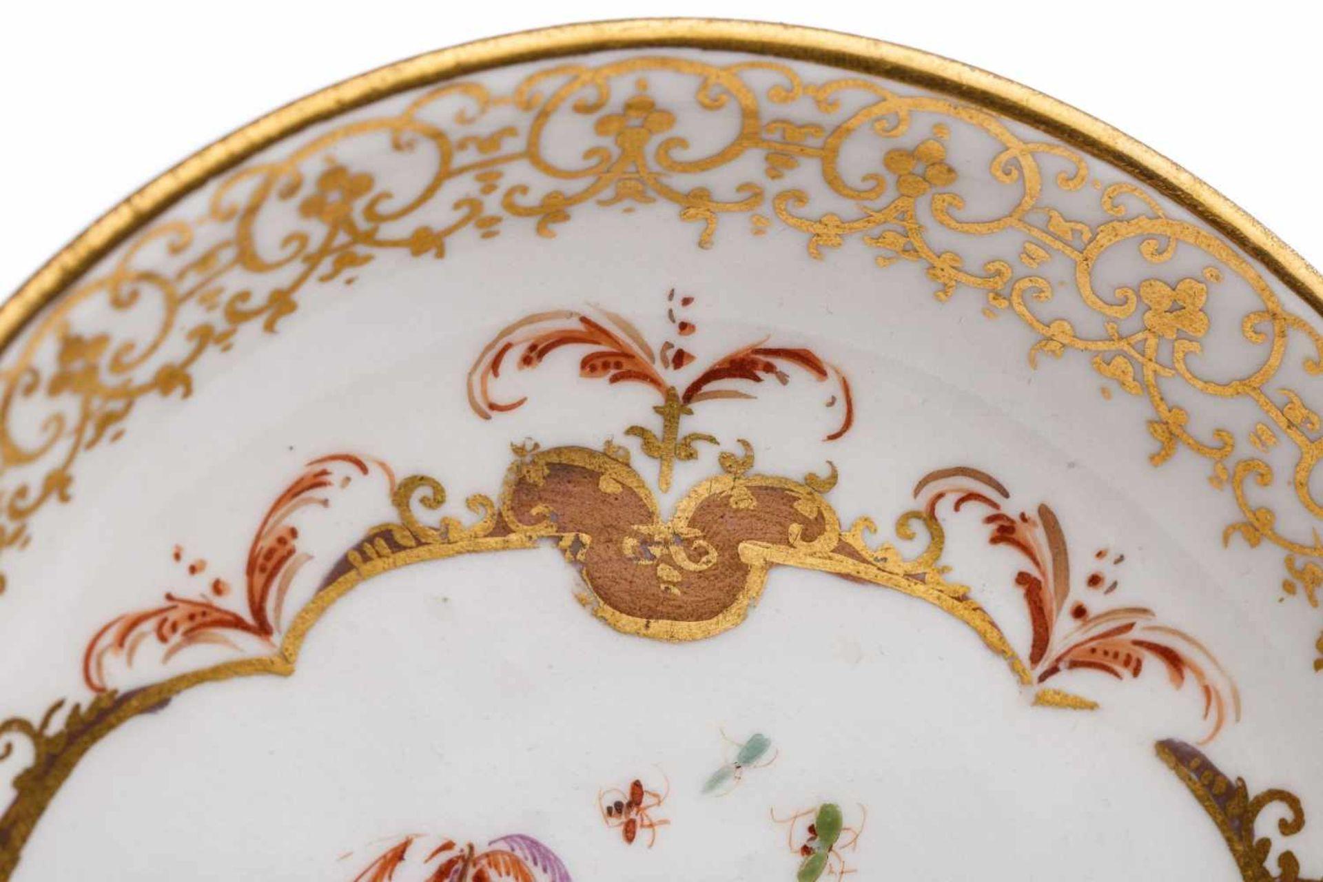 Koppchen mit Unterschale, Meissen 1730/35 - Bild 3 aus 6