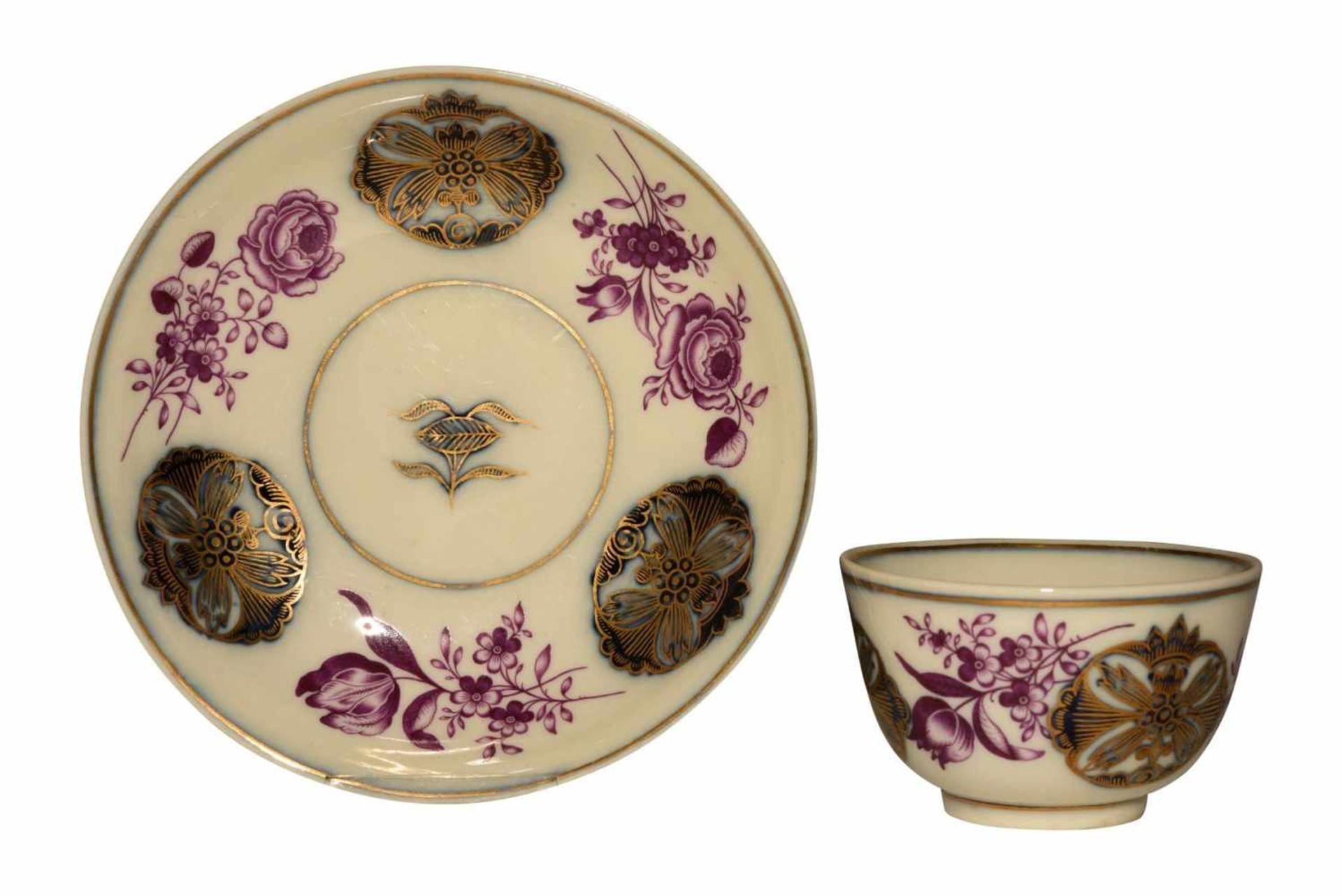 Koppchen mit Unterschale Meissen 1740