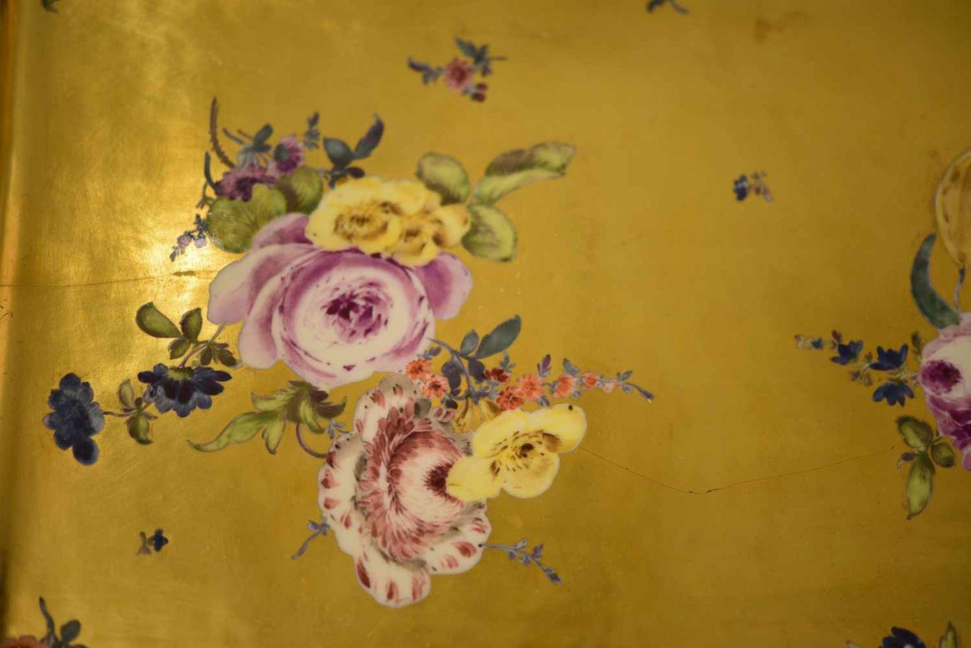 Platte Goldfond, Meissen 1740 - Bild 3 aus 5