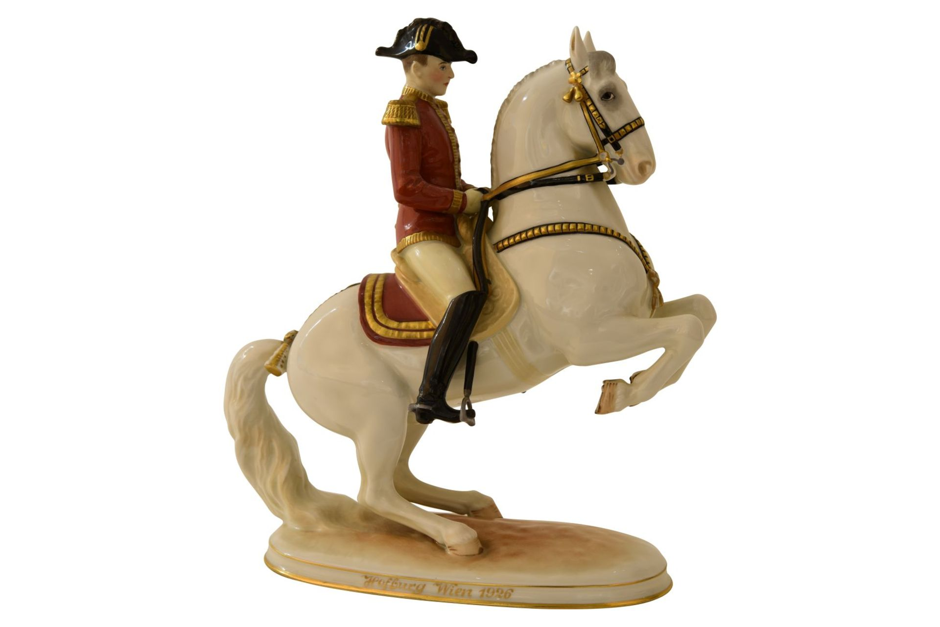 Pferd mit Reiter Augarten - Bild 3 aus 5