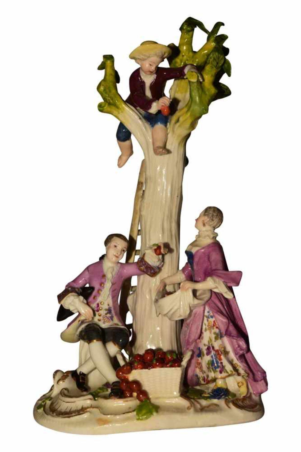 1 Gruppe Apfelpflücker Meissen 1750 - Bild 5 aus 8