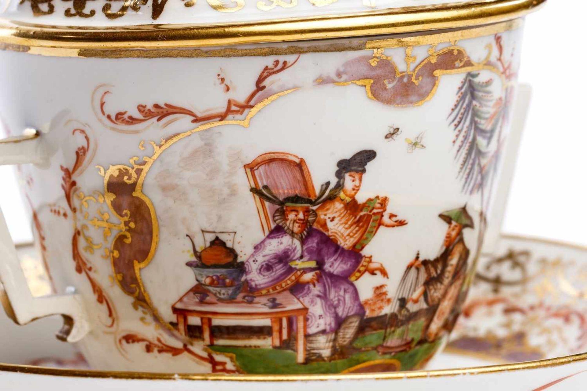 Kleines Deckelgefäß, Meissen 1725/30 - Bild 4 aus 6