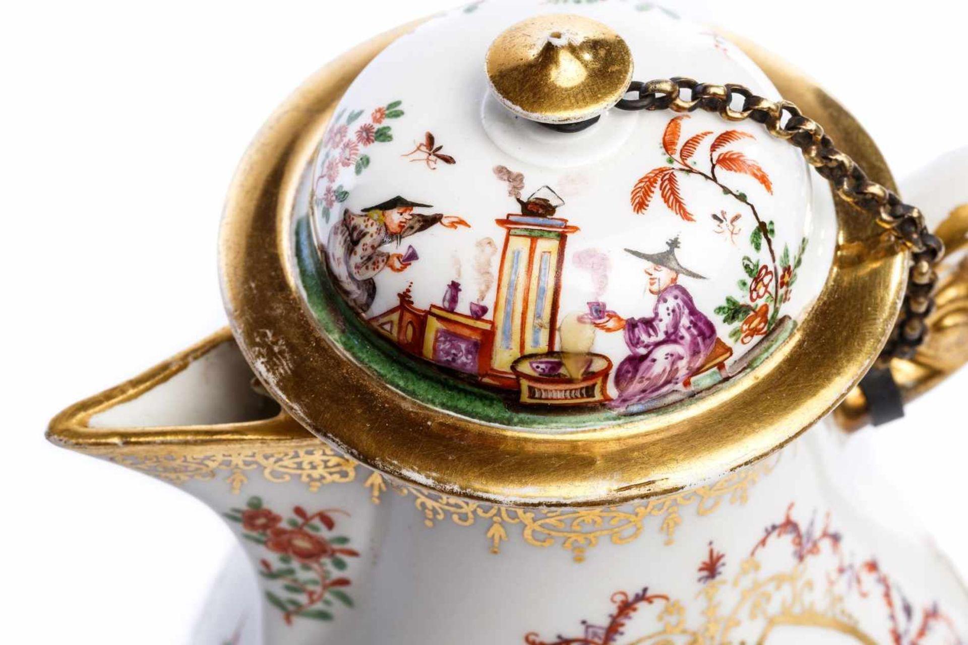 Kaffeekanne, Meissen 1724 - Bild 2 aus 5