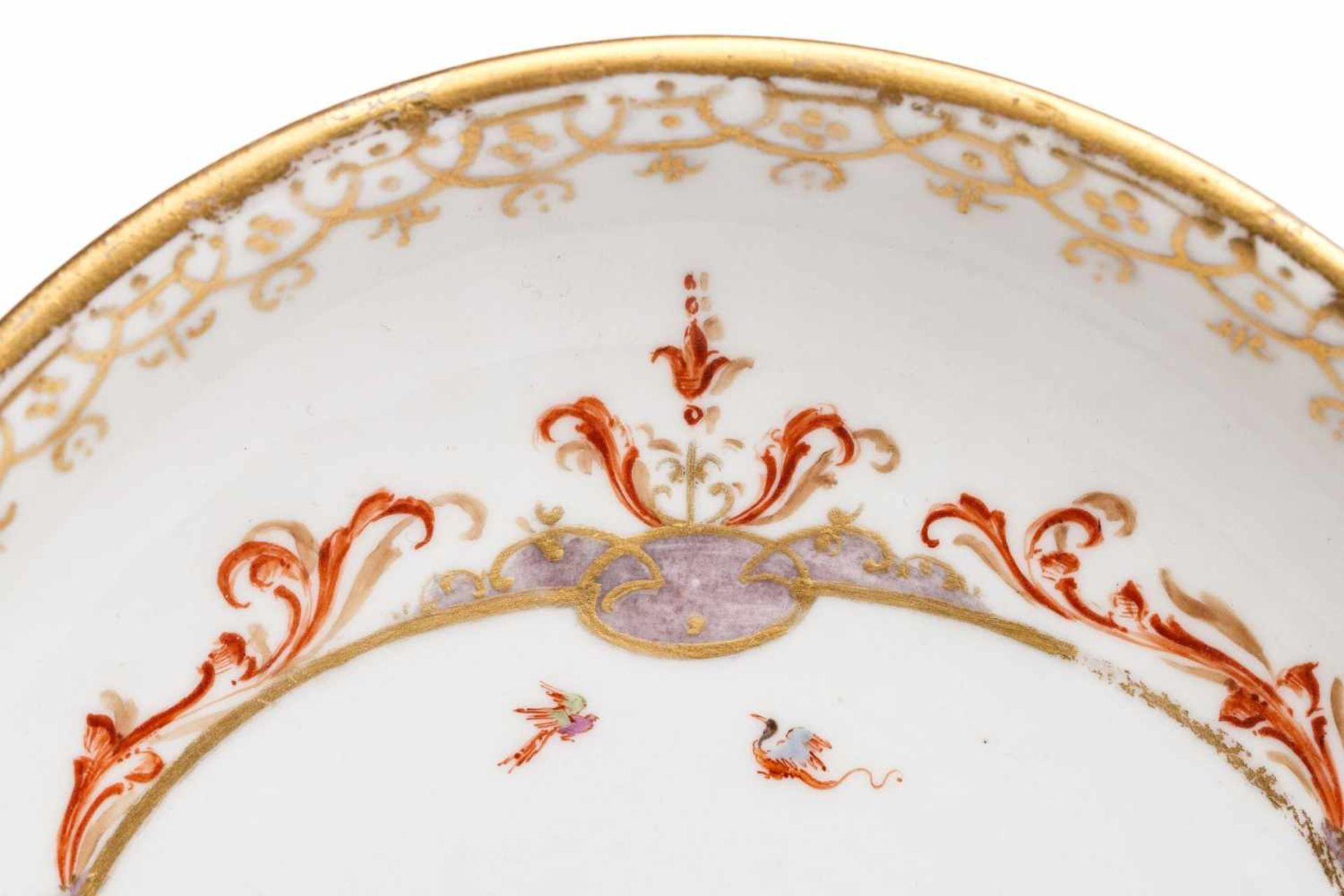 Koppchen mit Unterschale, Meissen 1720/25 - Bild 3 aus 6