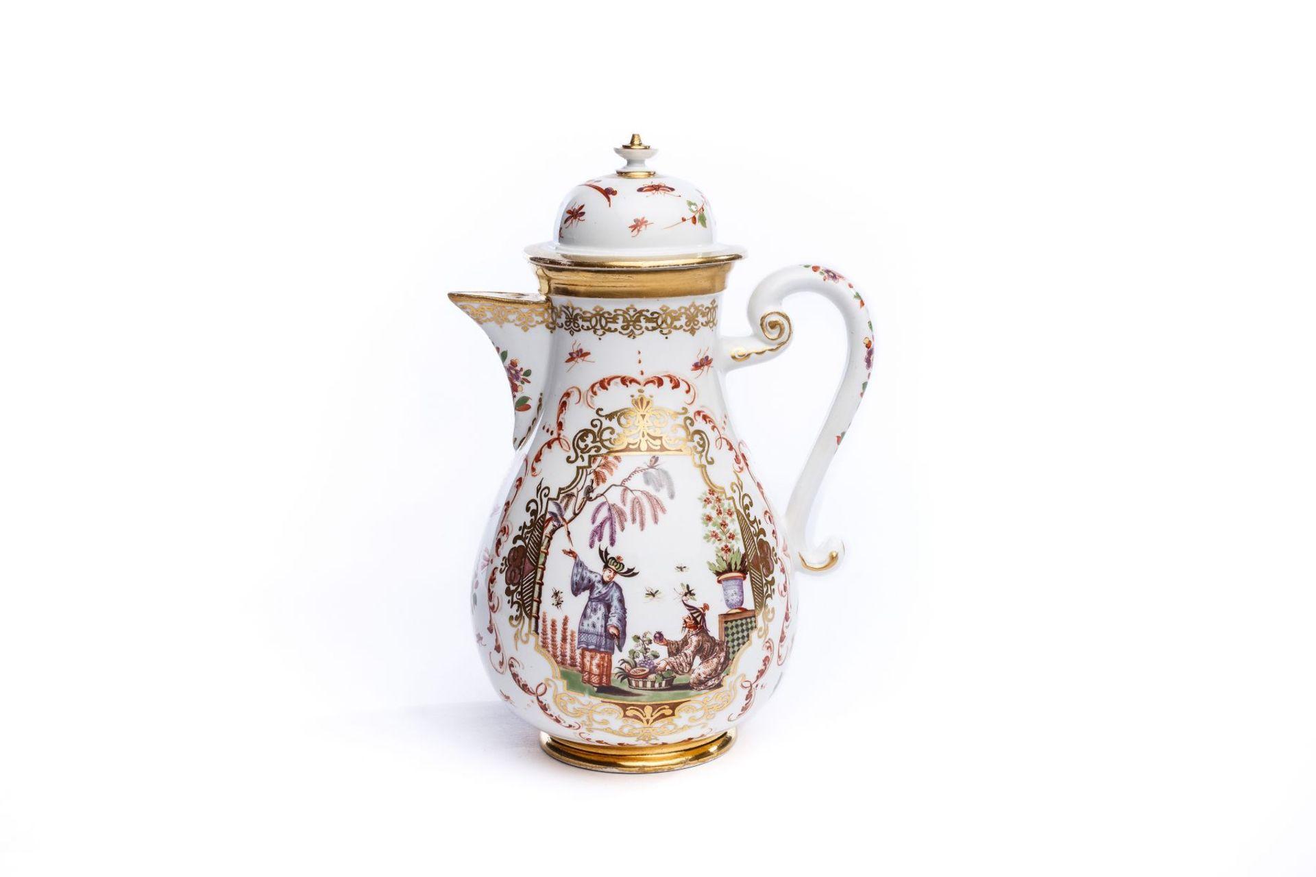 Kaffeekanne, Meissen 1725