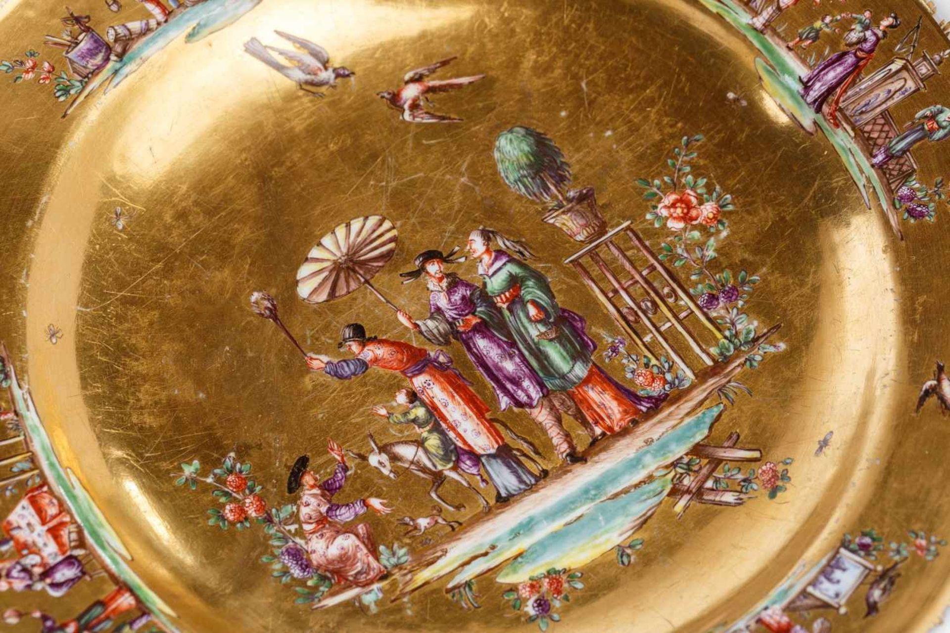 Seltene dreiteilige Deckelterrine, Meissen 1730/35 - Bild 5 aus 7