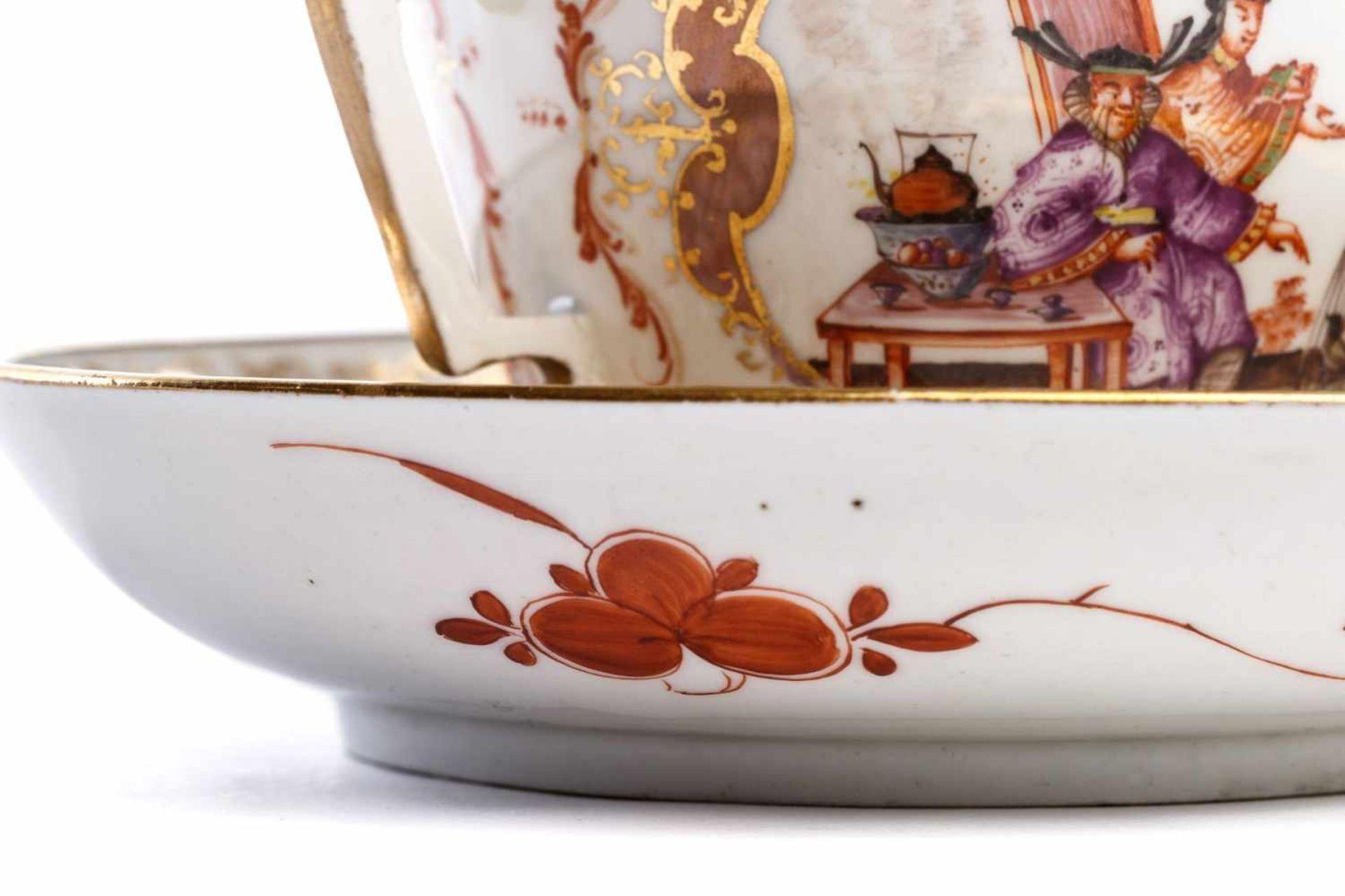 Kleines Deckelgefäß, Meissen 1725/30 - Bild 5 aus 6