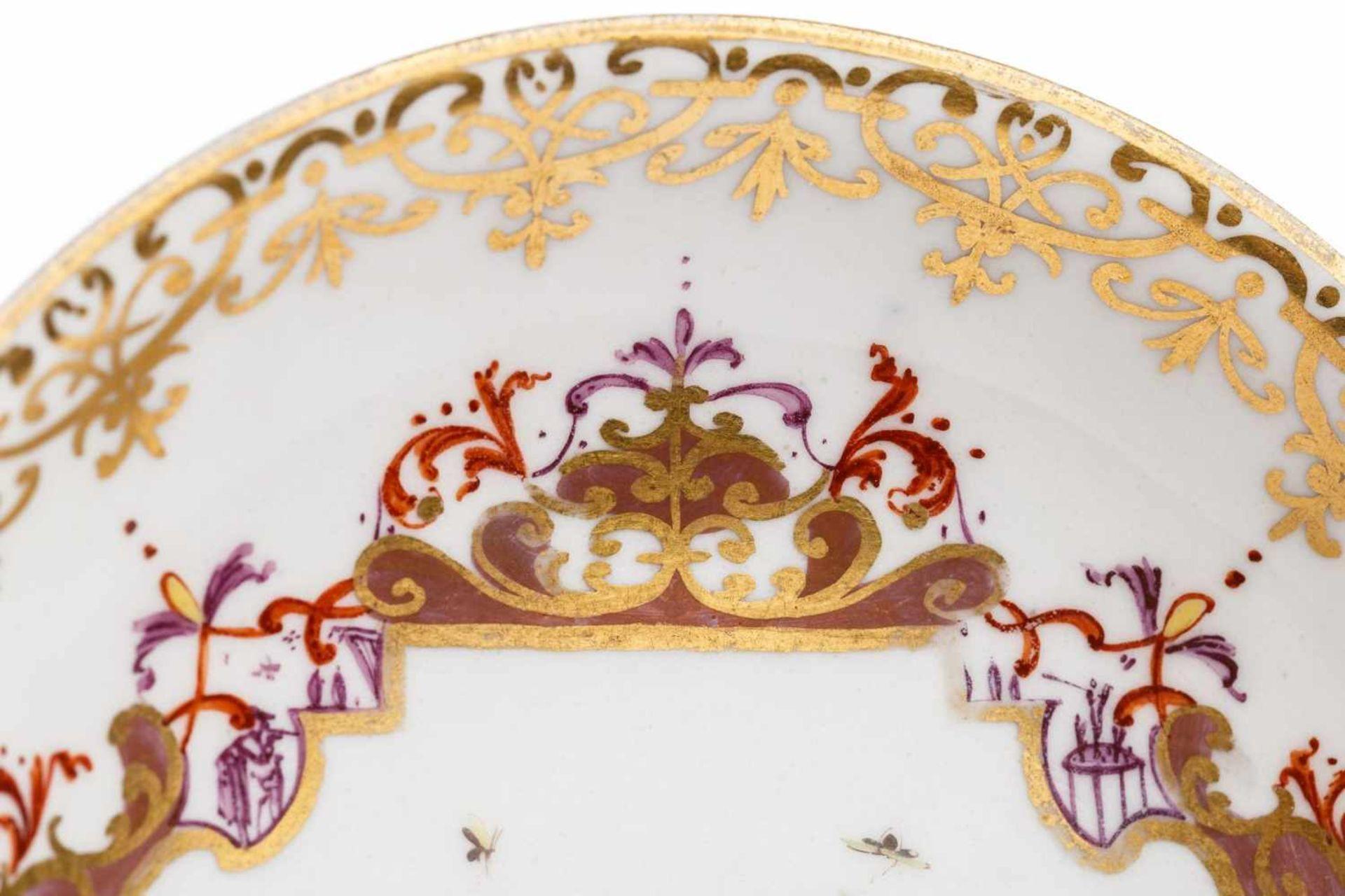 Koppchen mit Unterschale, Meissen 1730 - Bild 3 aus 5