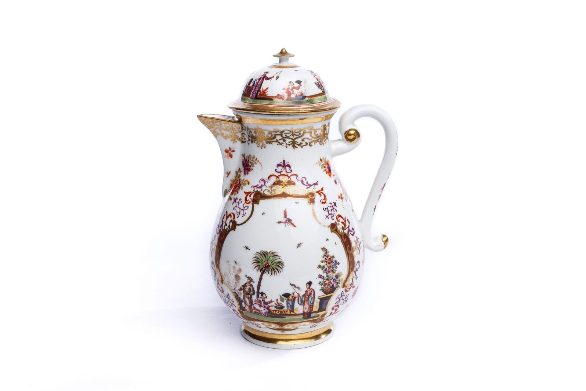 Kaffeekanne, Meissen 1723/24