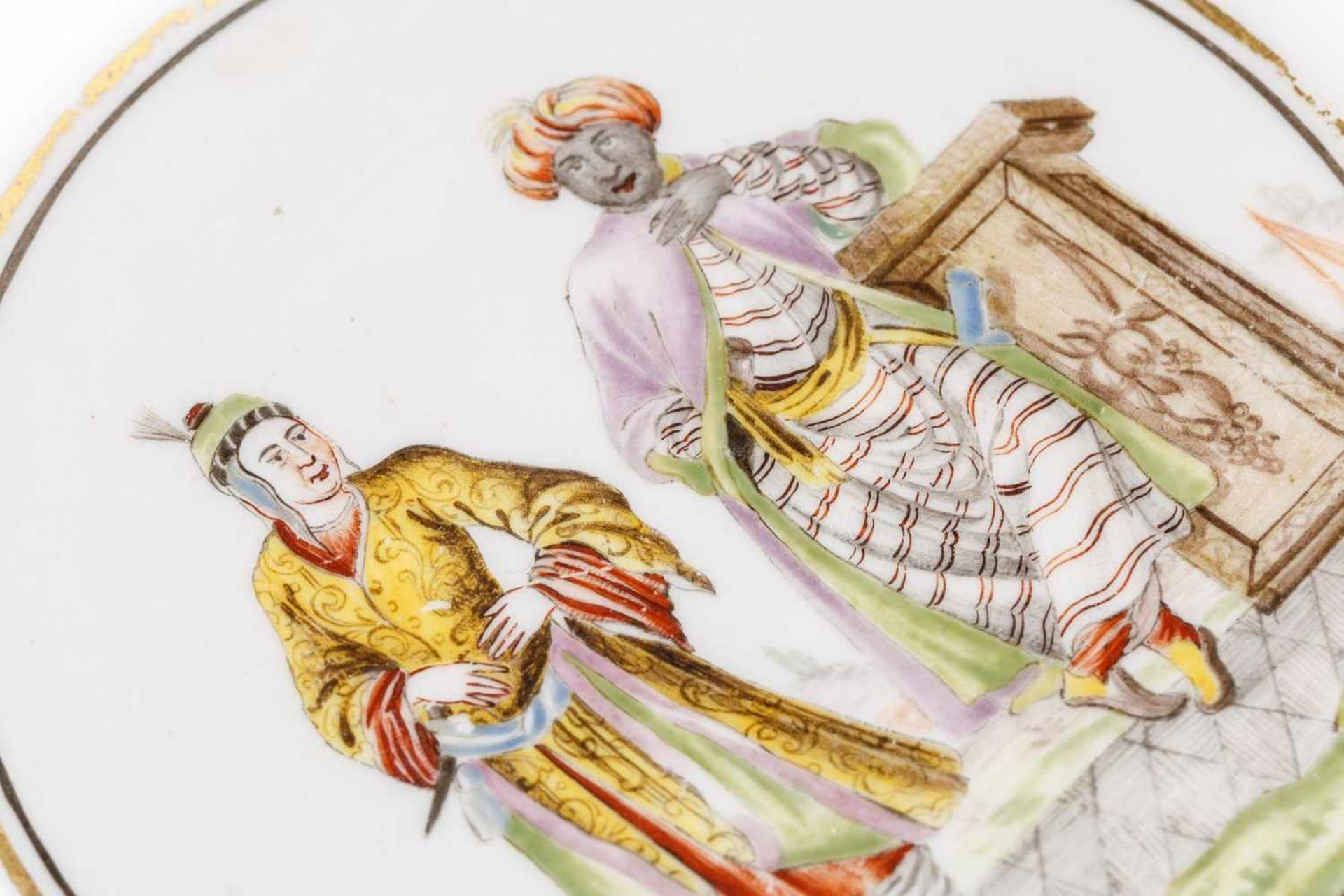 Kleine Unterschale, Meissen 1720/25 - Bild 2 aus 3