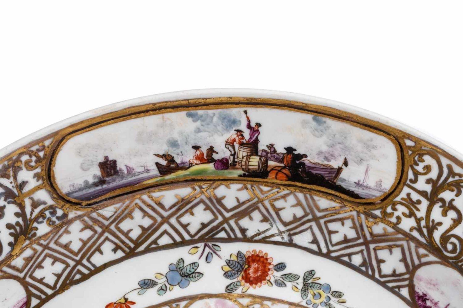 Kleine Prunkplatte, Meissen 1730/35 - Bild 3 aus 3