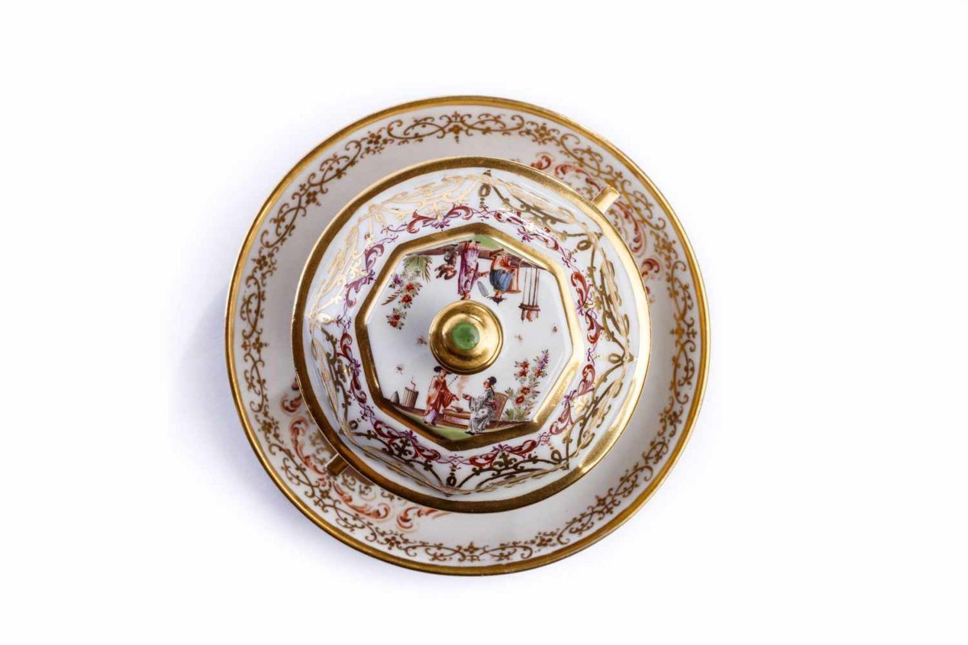 Kleines Deckelgefäß, Meissen 1725/30 - Bild 2 aus 6