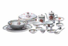 Chinesisches Tee- Kaffee- und TafelserviceEin großes Porzellan Tee- Kaffee- und Tafelservice ca.
