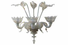 3 armingeMurano WandleuchtenKünstlerische Wandlampe aus Murano-Glas, ausschließlich von Hand