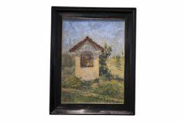 """Caroline Kubin """"Materl""""Caroline Kubin (1870-1945) wandte eine nachimpressionistisch-pastose Malweise"""