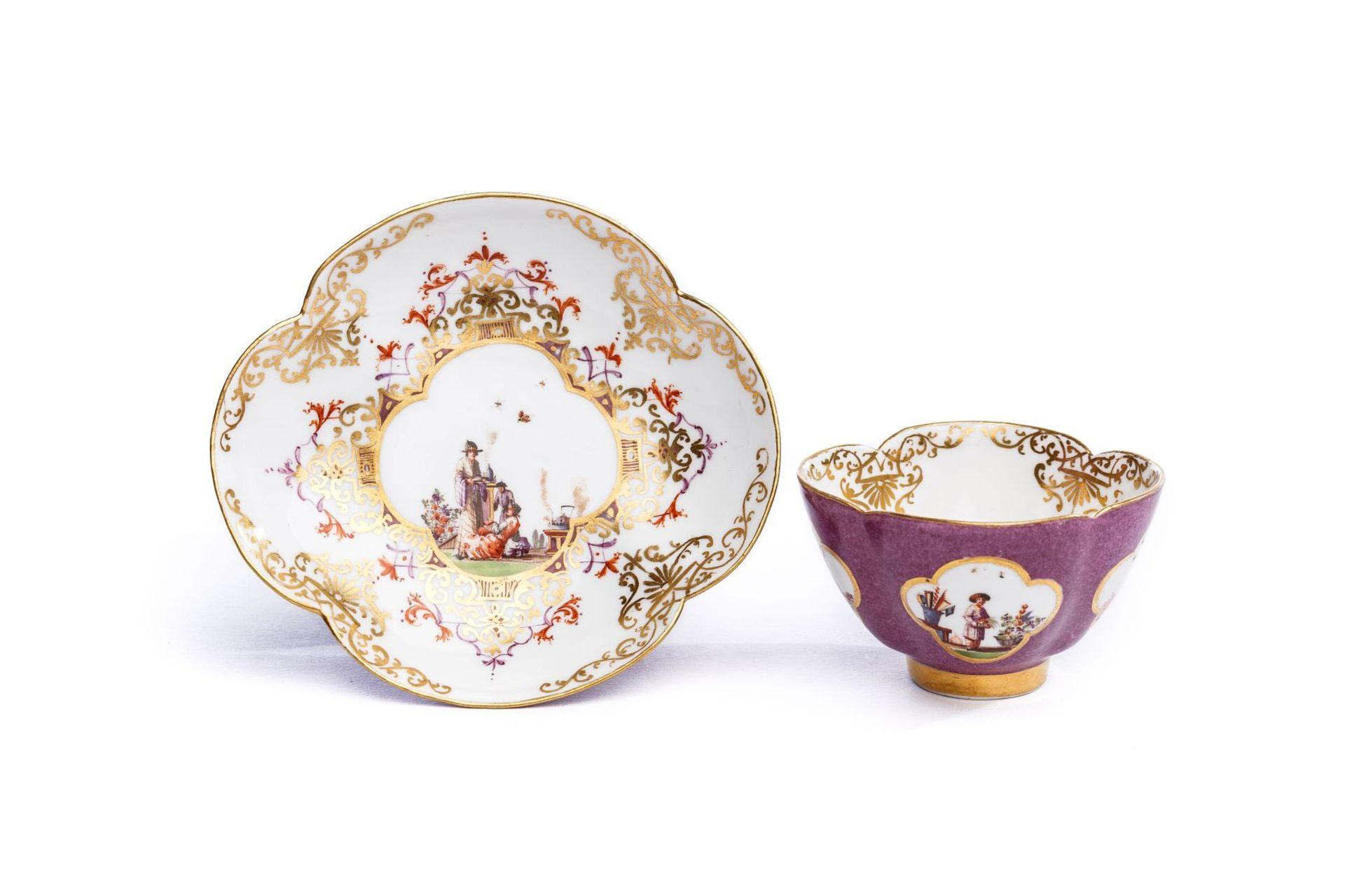 Koppchen mit Unterschale, Meissen 1728/30