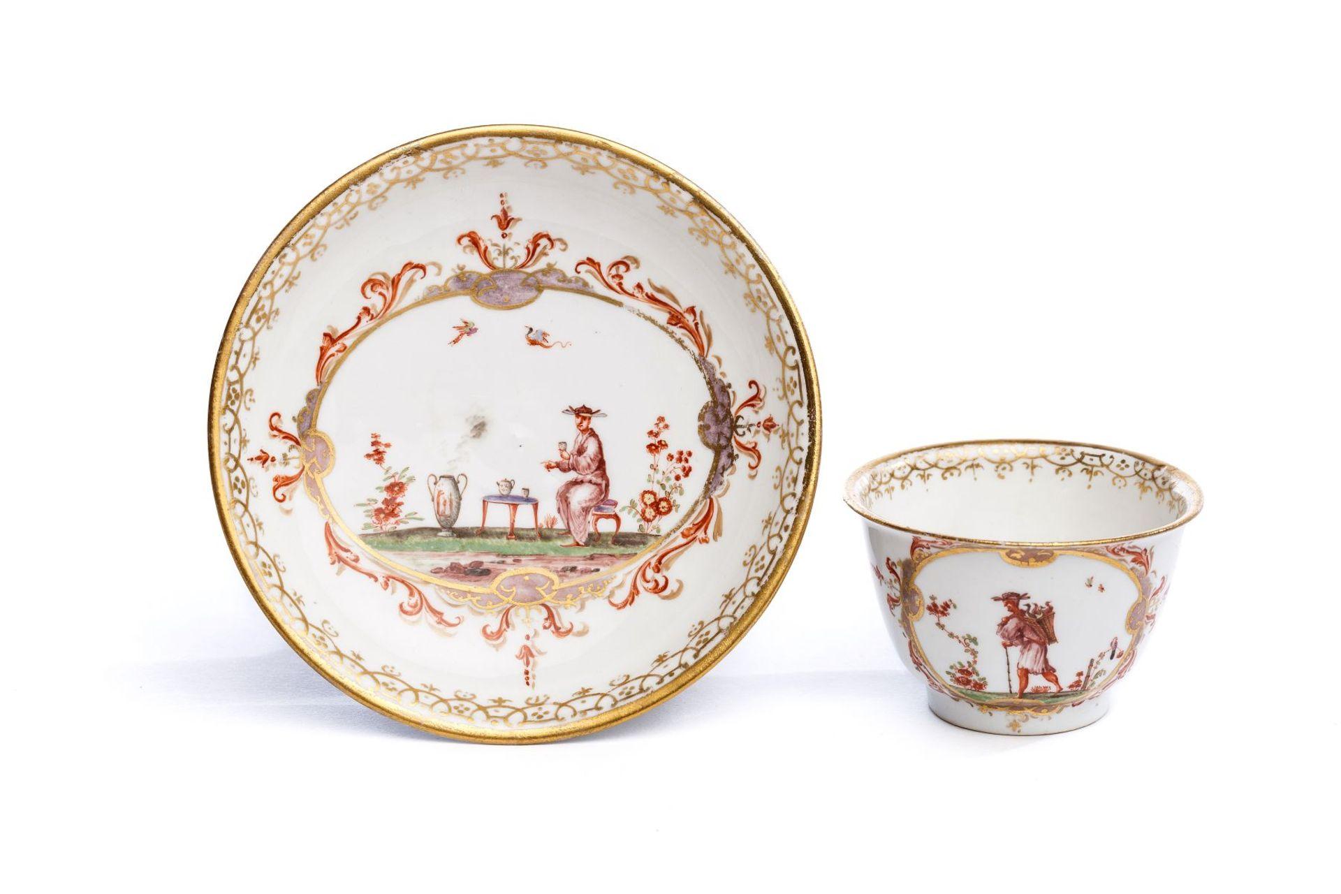 Koppchen mit Unterschale, Meissen 1720/25