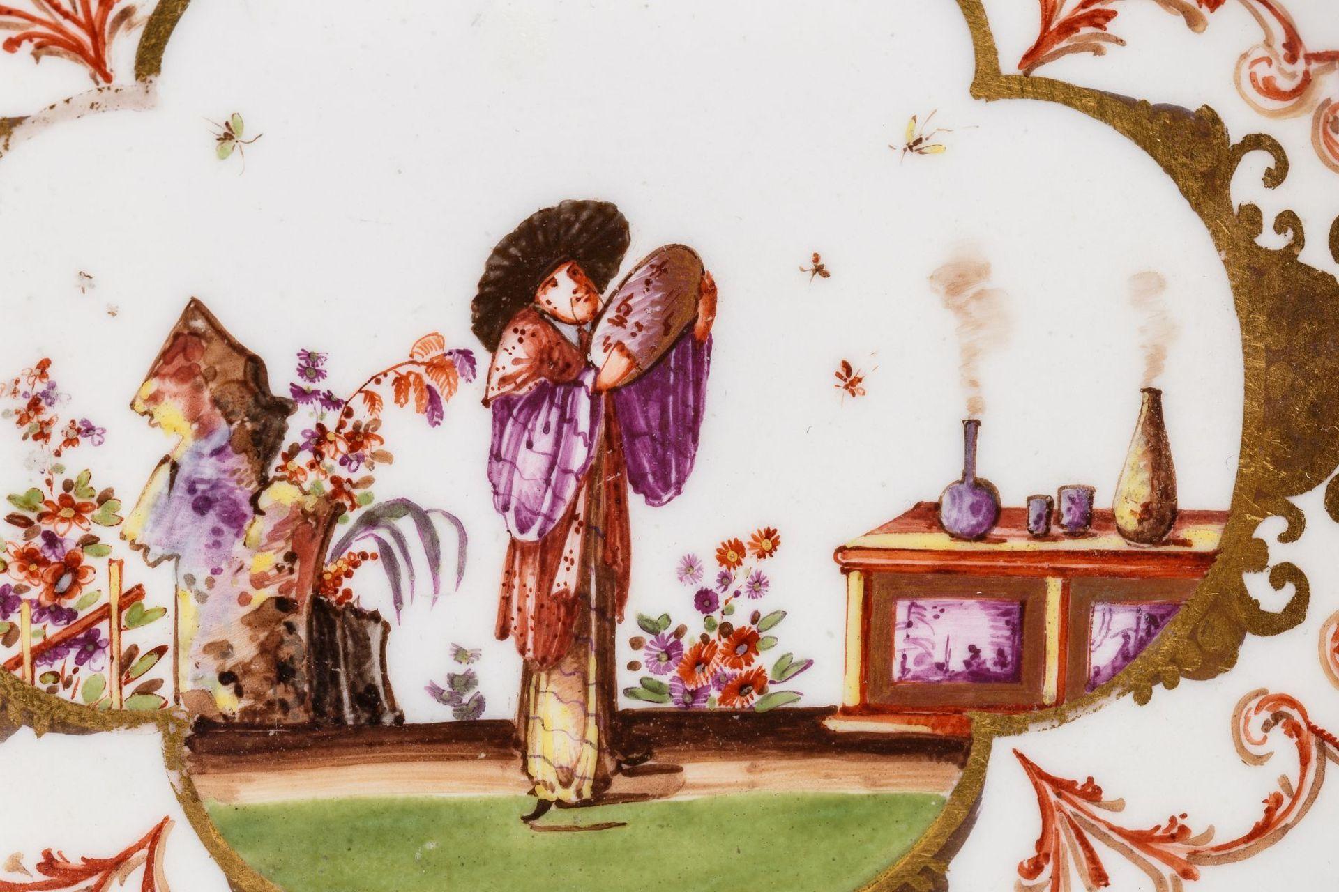 Koppchen mit Unterschale, Meissen 1723/25 - Bild 2 aus 5