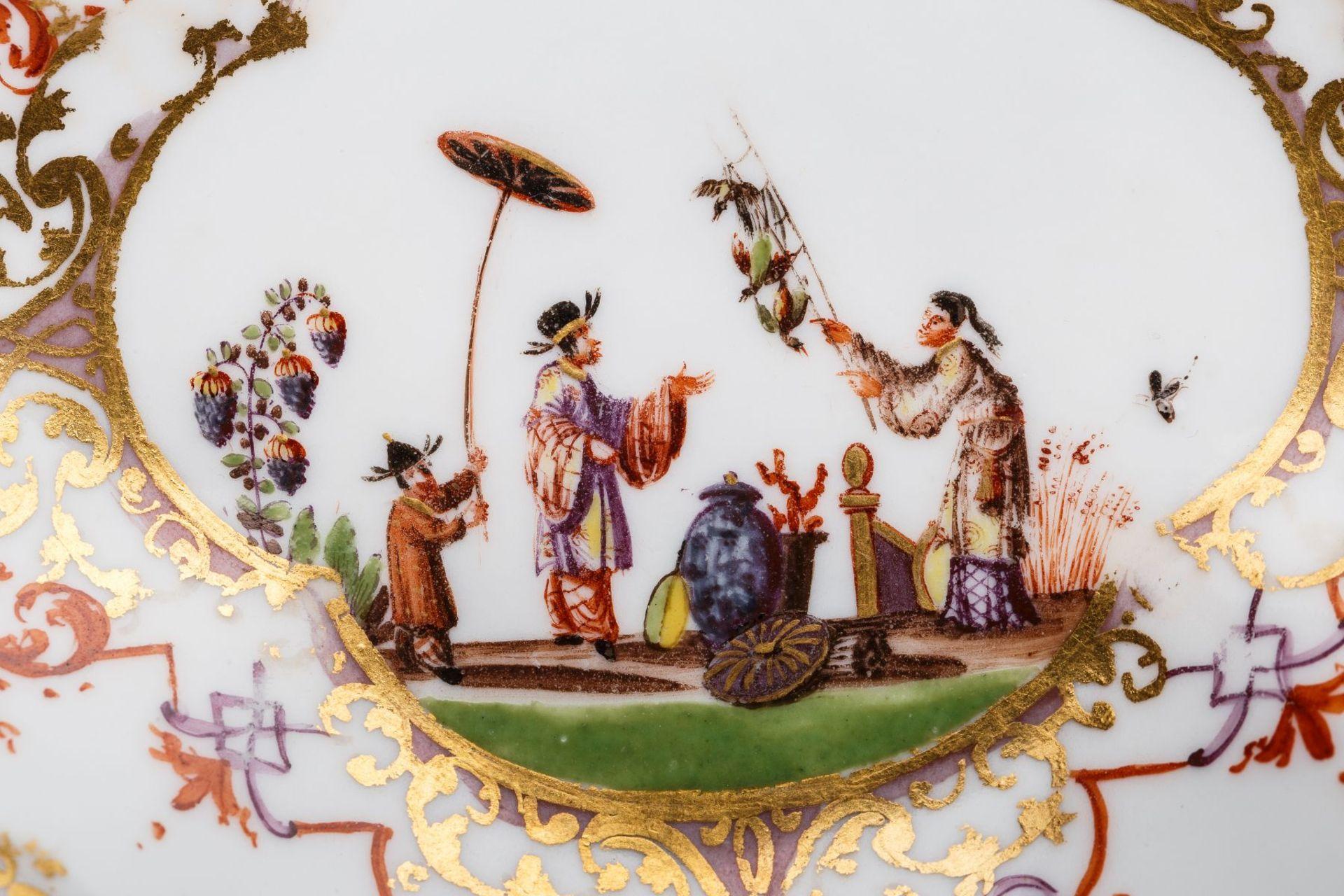 Koppchen mit Unterschale, Meissen 1720/30 - Bild 3 aus 3