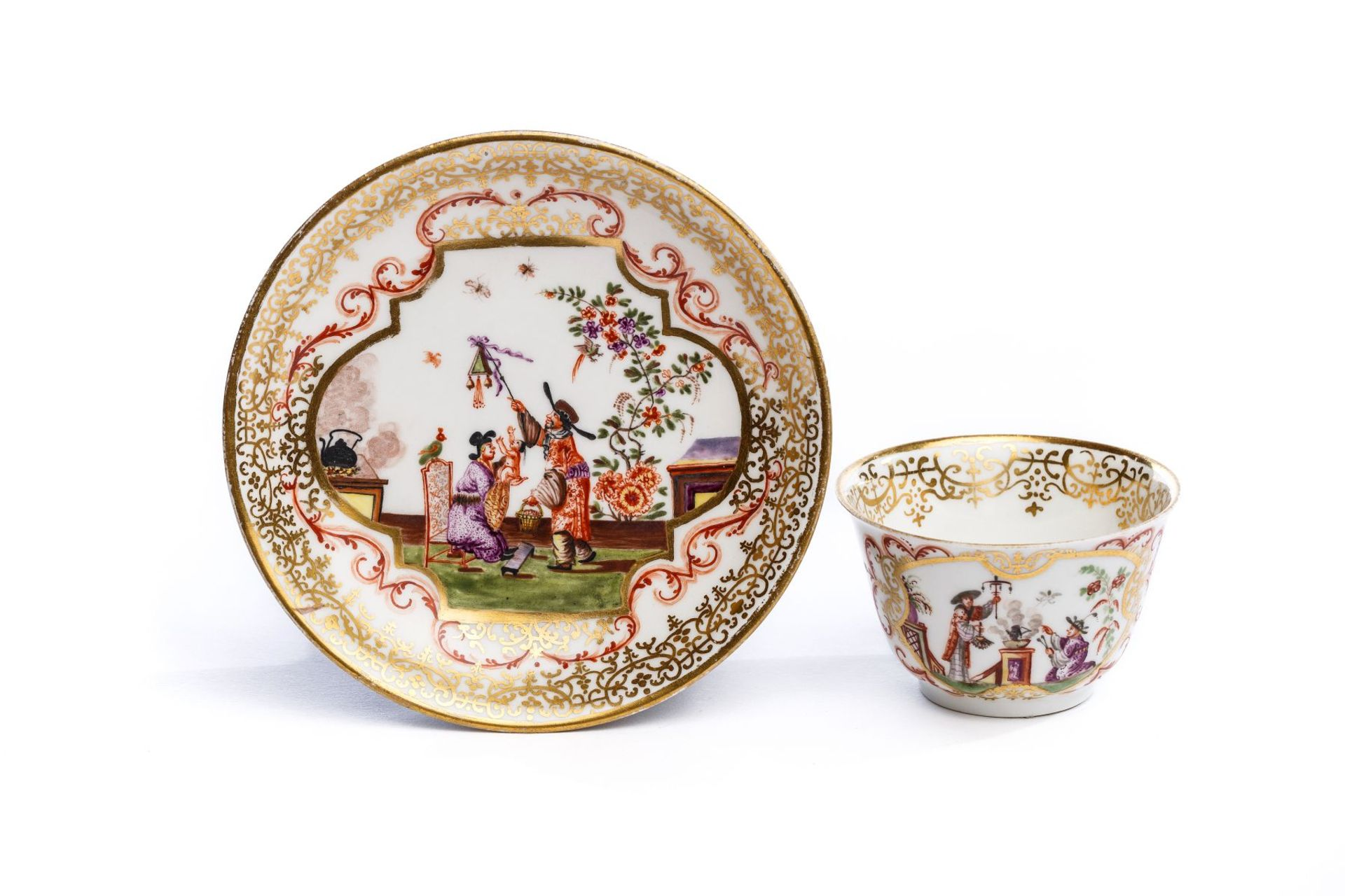 Koppchen mit Unterschale, Meissen 1725,