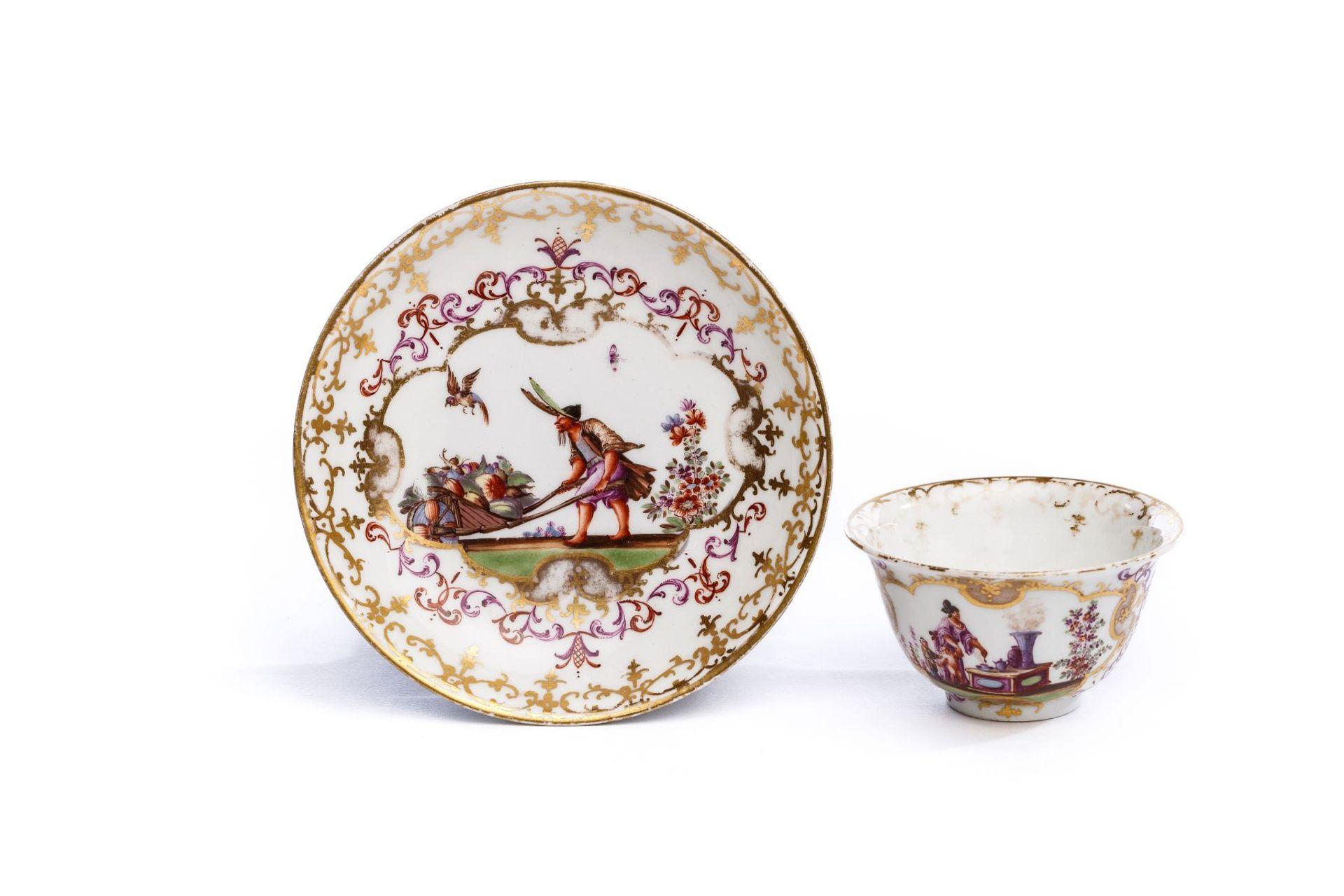 Koppchen mit Unterschale, Meissen 1723/25