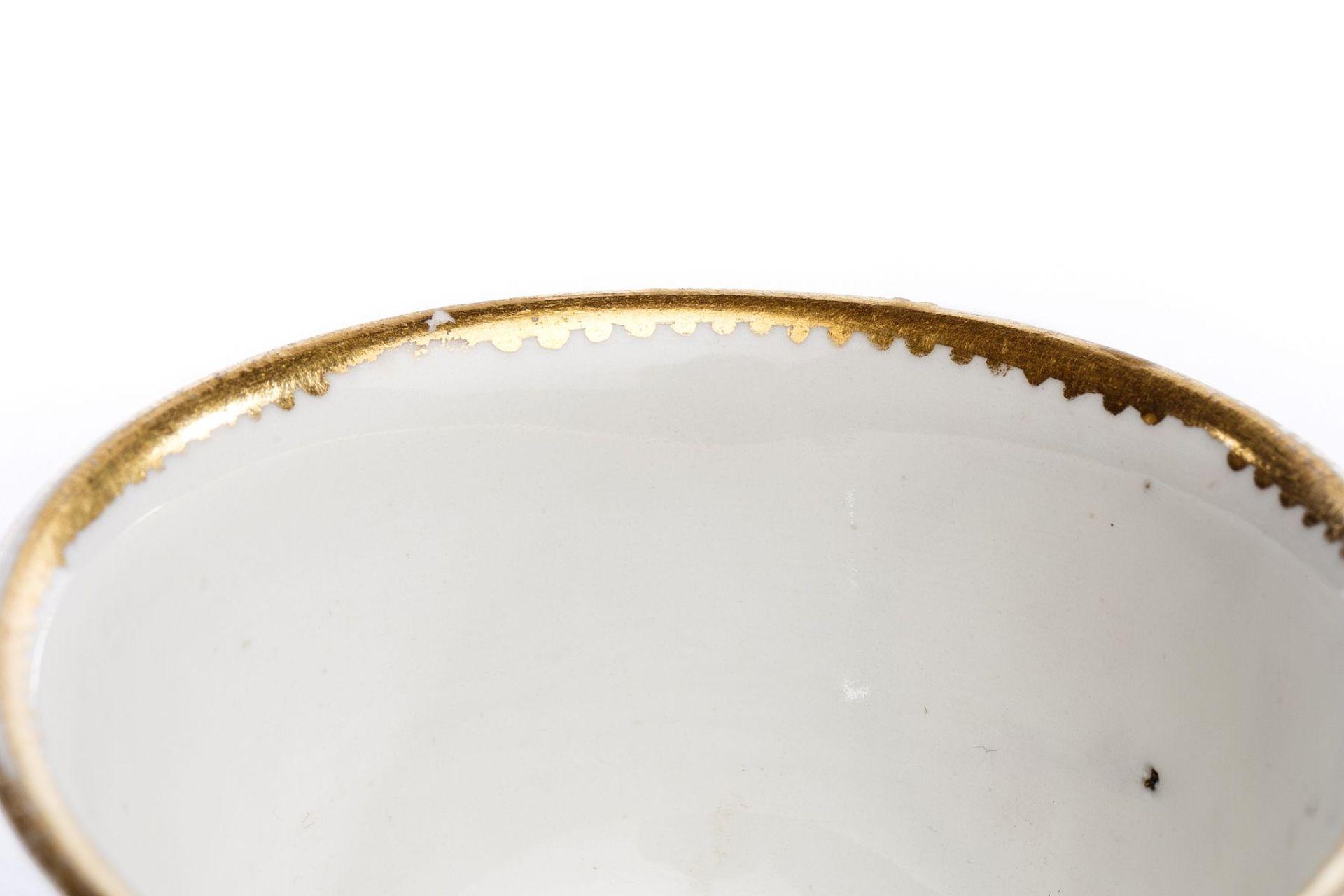 Koppchen ohne Unterschale, Meissen 1720/25, - Bild 3 aus 4