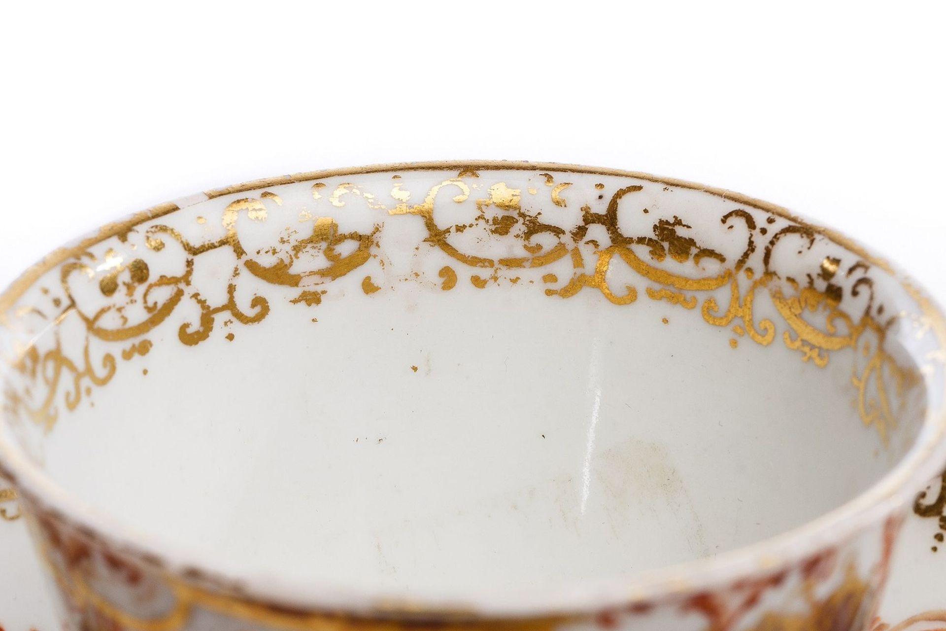 Koppchen mit Unterschale, Meissen 1730/35 - Bild 5 aus 5