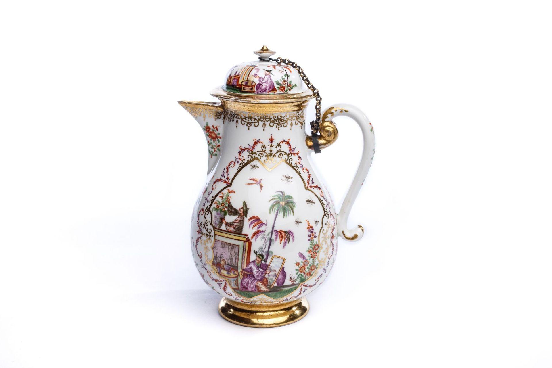 Kaffeekanne, Meissen 1724