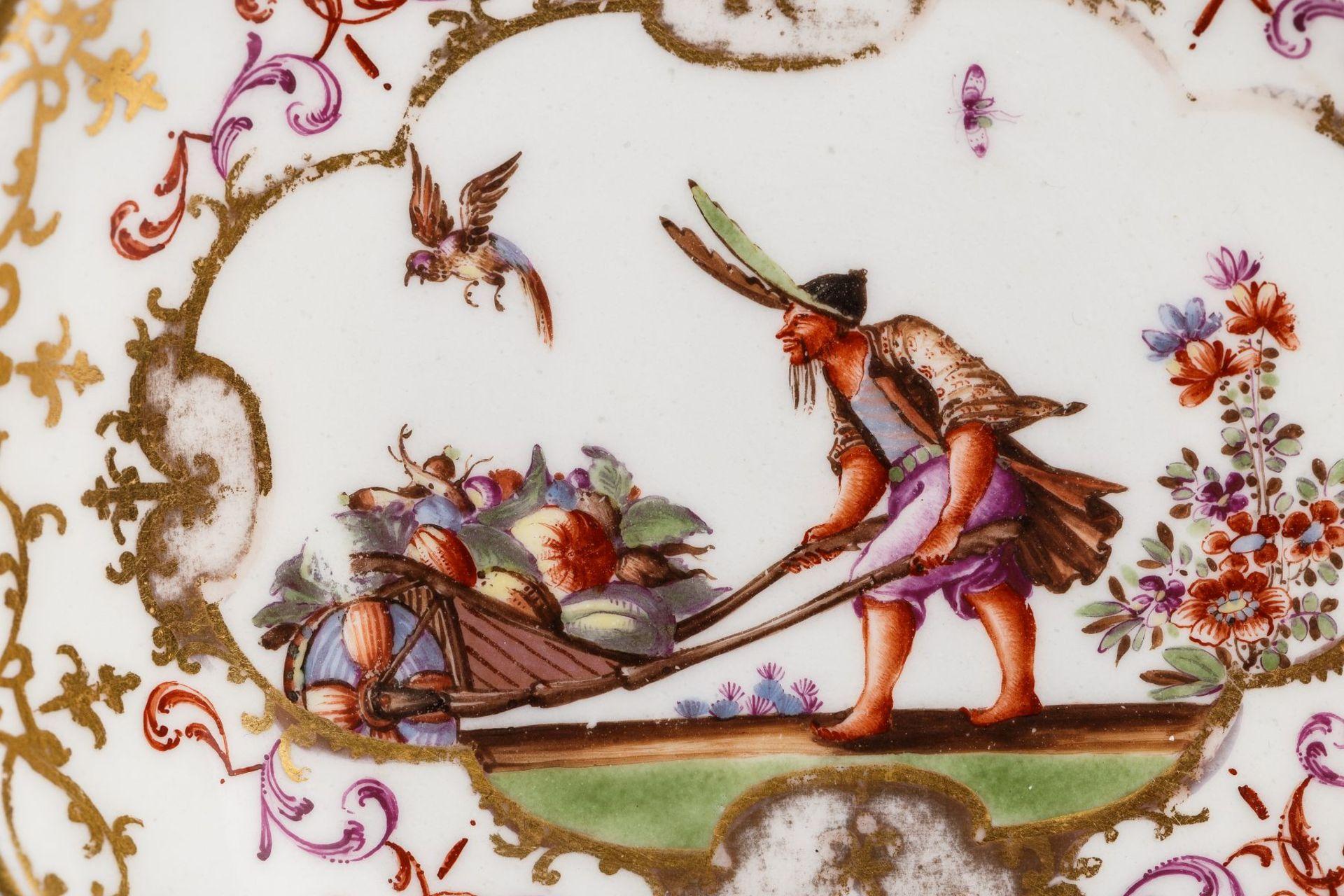 Koppchen mit Unterschale, Meissen 1723/25 - Bild 2 aus 4