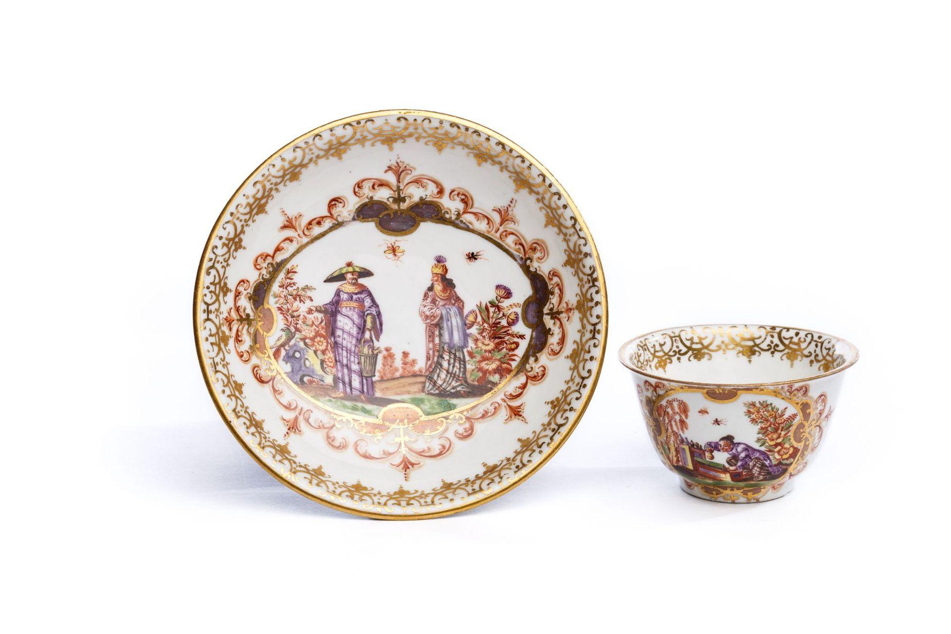 Koppchen mit Unterschale, Meissen 1723/24
