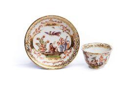 Koppchen mit Unterschale, Meissen 1730/35