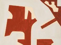 """Rudolf Petrik (1922-1991), """"Komposition in Rot und Hellgrau"""" 1957"""
