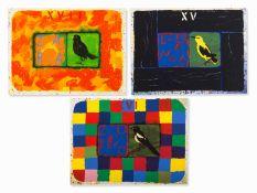 Joe Tilson (geb. 1928) , Conjunctions, 3 Farbserigrafien, 2001