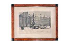 """Luigi Kasimir (1881-1962) """"Am Hof in Wien"""""""