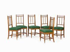 Satz von 6 Stühlen, Italien, Mitte 19. Jh.