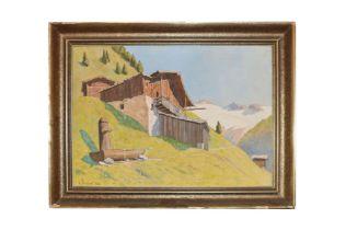 """L. Machek 1938 """" """"Bauernhof den Bergen"""""""