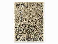 Paul Wunderlich (*1927-2010), Kunst + Knoll International, Plakat, 1963