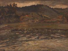 Berglandschaft am See, Deutschland, um 1905