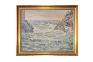 """Adolf Wiesler (1878-1958) """"Steilküste"""""""