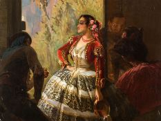 "Eugène Giraud (1806-1881), ""Spanische Tänzerin"" 1886"