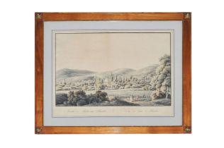 """Unbekannter Maler """" Ansicht des Parks bei Baden"""""""