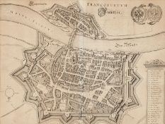 """Matthäus Merian, """"Franckfurt"""" am Main, 1645/ 19. Jh."""