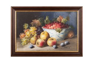 """H. Langer, """"Früchtestillleben"""""""