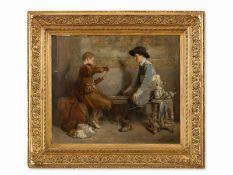 """Roman Ribera Cirera (1849-1935), """"Kartenspieler"""", Öl, um 1890"""